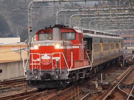 DD51 サロンカーなにわ  山陰本線福知山駅04