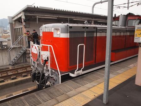 DD51 サロンカーなにわ  山陰本線福知山駅10