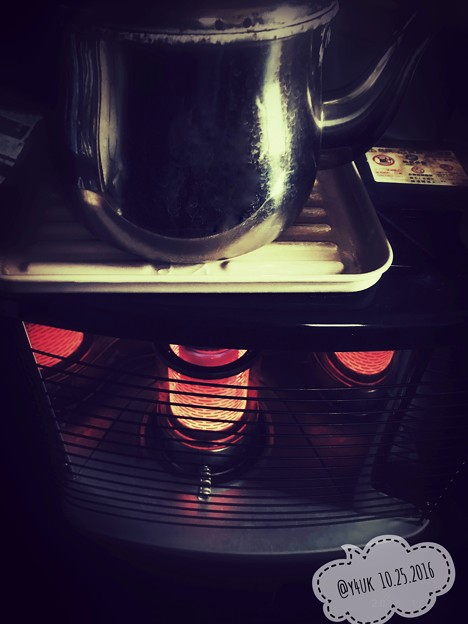 今秋ストーブ初点火 ~Oil stove, kettle to heartwarming