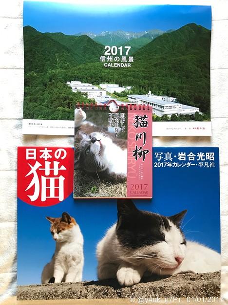 2017カレンダーは3つも部屋に飾る!元日