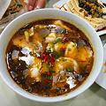 Photos: 酸辣魚ピータン豆腐魚香茄子