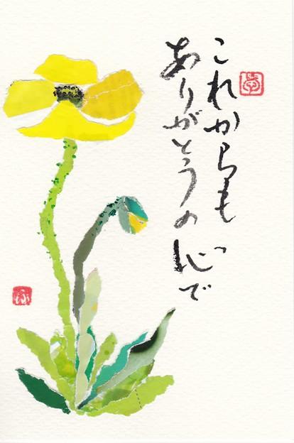 チラシちぎり絵(ポピー) by ふうさん