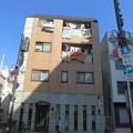 写真: 冬晴れ_商店街