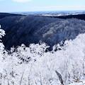 写真: 凍てつく山々