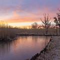 写真: 浮野の朝焼け