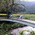 里の小橋で記念撮影