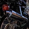 写真: カブマフラー交換 タケガワのボンバーマフラー