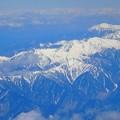 飛行機からの南アルプス