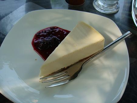 レアチーズケーキ@旦念亭
