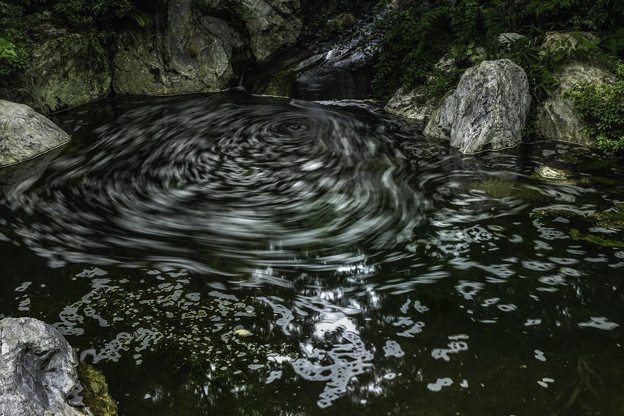 渦巻く北の大滝