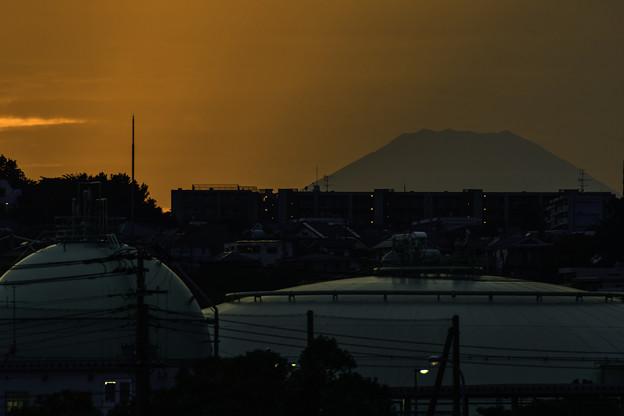 タンクと富士山