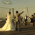 Photos: ダイヤモンド富士を背に受けて