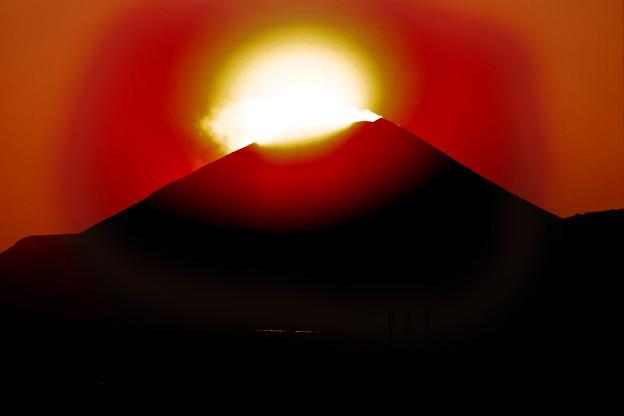 Photos: 今夕のダイヤモンド富士