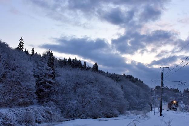 一晩で雪景色