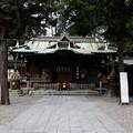 写真: 調(つき)神社拝殿