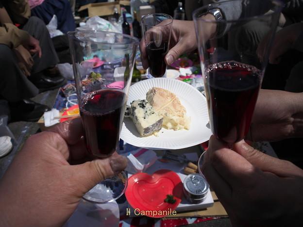 先生の赤ワインとチーズ