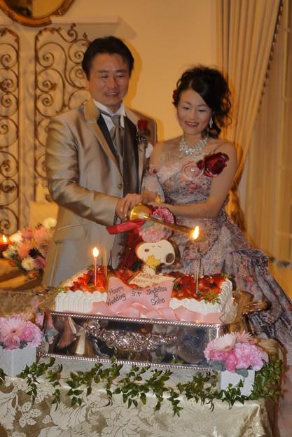 Photos: 064 ウェディングケーキに点火