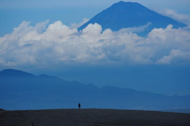 富士に対峙する2