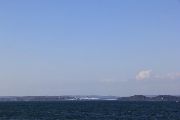 能登島大橋が見えたよ