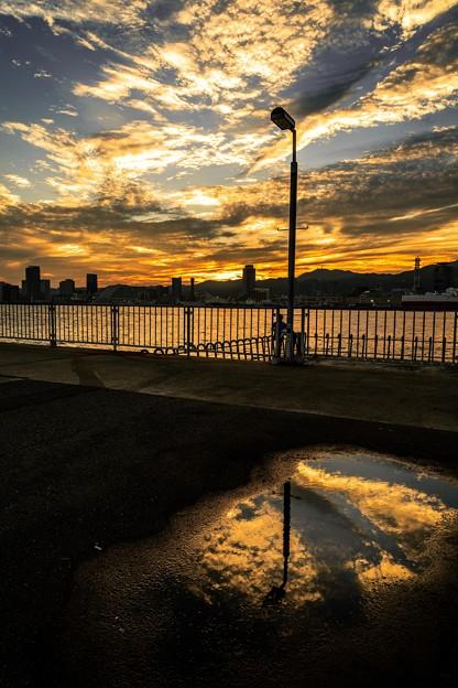 神戸の夕焼け