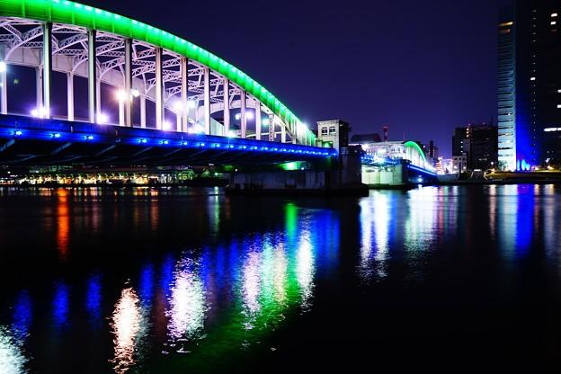 夕暮れの勝鬨橋