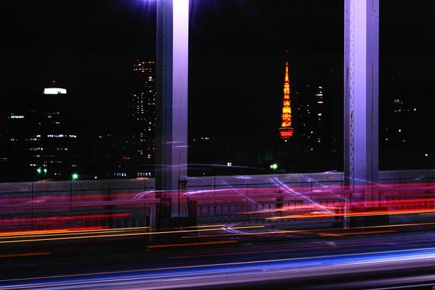 東京タワーを望む