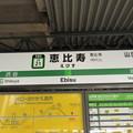 Photos: #JY21 恵比寿駅 駅名標【山手線 外回り】