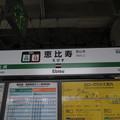 #JA09 恵比寿駅 駅名標【埼京線・湘南新宿ライン 南行 2】