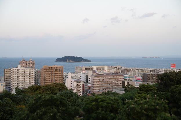横須賀市街と猿島