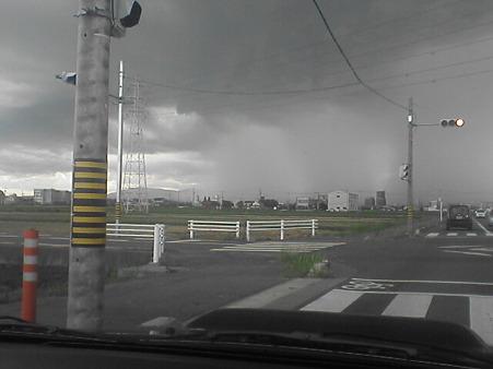 雨の境目=空中滝