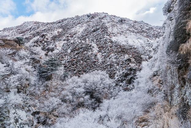 霧氷沢から平成新山