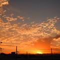 写真: 秋の夕焼け