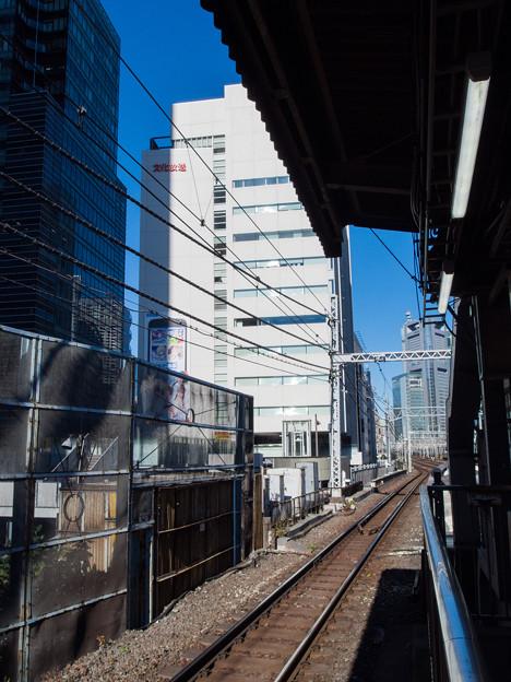 浜松町駅から眺める文化放送メディアプラス
