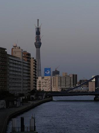 スカイツリー(隅田川大橋より)