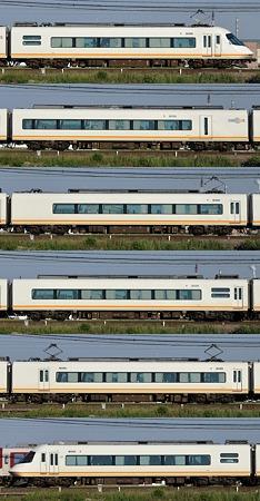 近鉄21000系21107F(UL07)山側側面 2010.06.05