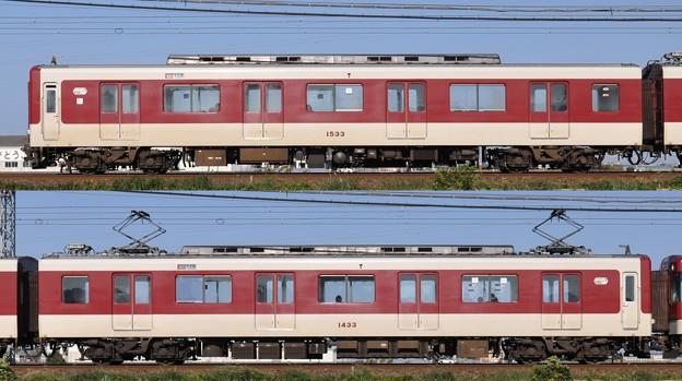 近鉄1430系1433F(VW33)海側側面 2010.11.20