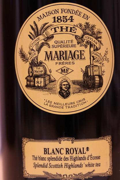 MARIAGE FRERES BLANC ROYAL -White Tea- Scotland 缶