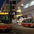写真: 宵の入りの駅前風景…西新井駅西口