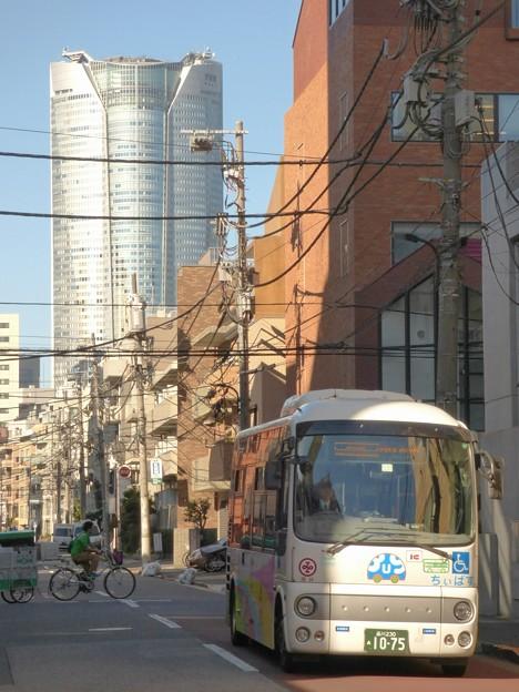 写真: 閑静な朝の街を走る「麻布東ルート」