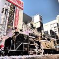 Photos: 新橋駅前のSLも「クリスマスの装い」