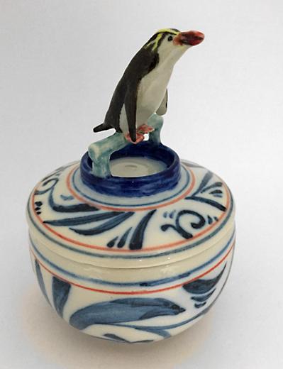 ロイヤルペンギン染付湯吞