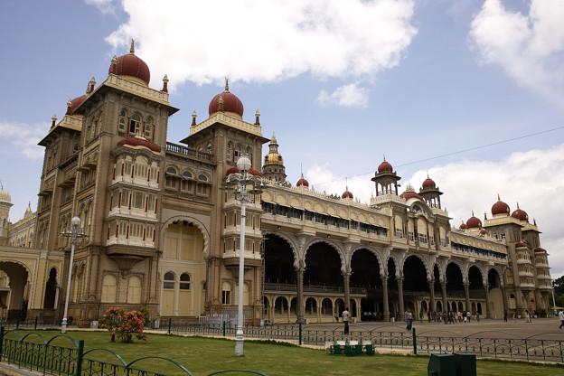 今回のハイライト、マイソール宮殿@インド マイソール
