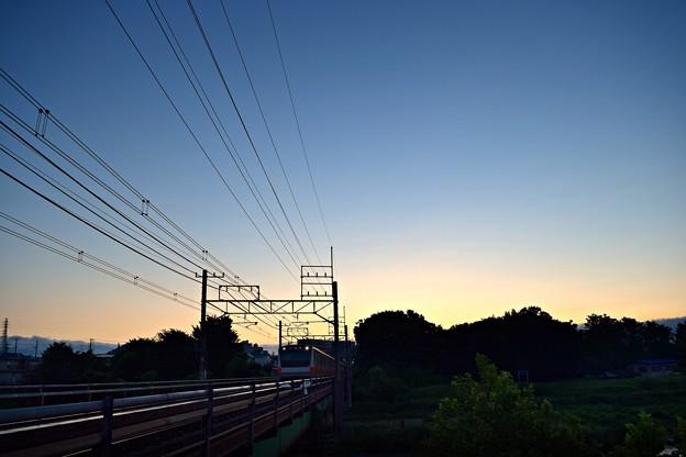 朝焼け鉄橋