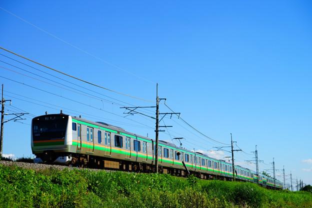 E233系@蒲須坂~片岡