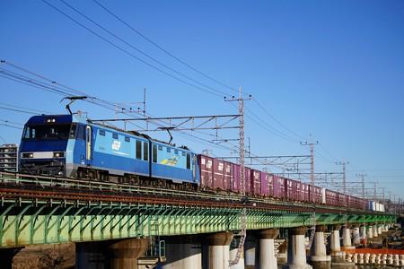 2083レ EH200-8+コキ@多摩川橋梁