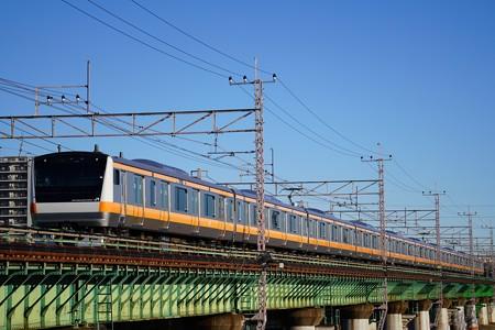 E233系@多摩川橋梁2