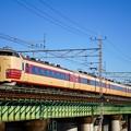 Photos: 189系M51編成 臨時列車「あずさ50周年記念号」@多摩川橋梁