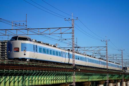 189系M50編成 「ホリデー快速富士山」@多摩川橋梁