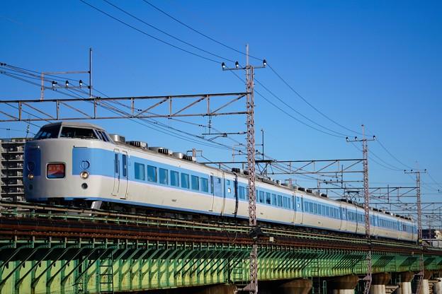 Photos: 189系M50編成 「ホリデー快速富士山」@多摩川橋梁