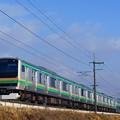 E231系@蒲須坂築堤